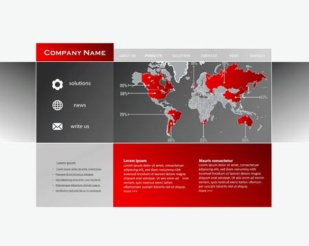 worldwide website: Business website template