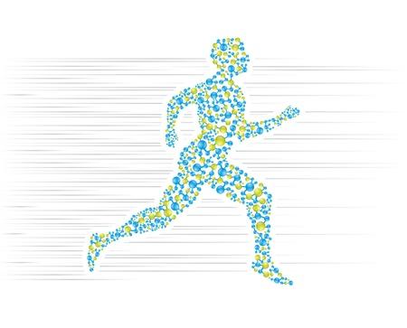 g�n�tique: Le corps humain fonctionne en pr�sentation scientifique Illustration