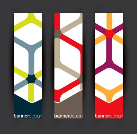 Vertical banner elements Vector