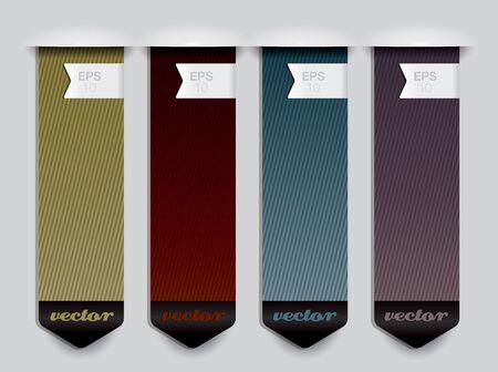 hexagone: Vertical banner elements  Illustration