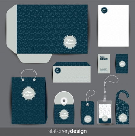 Stationery design set Stock Vector - 16439203