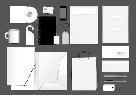 Blank stationery design set  Vector