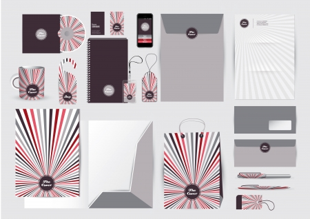 Great stationery design  Stock Vector - 16439217