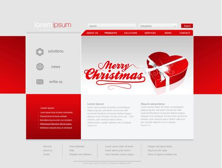 Professional website template  Vector