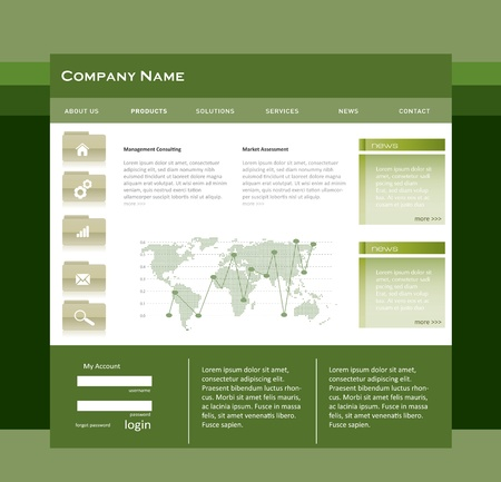 Simple website template in editable vector format Illustration