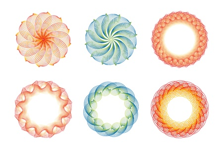 Set of abstract sun concepts in editable vector format Vector