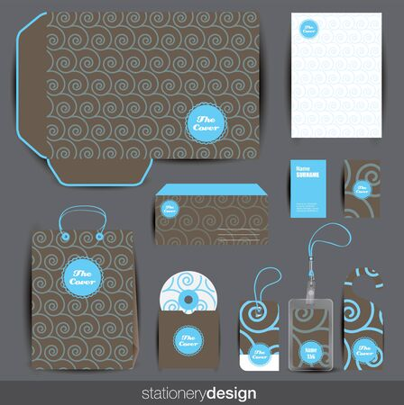 Stationery design set in editable vector format Stock Vector - 16643297