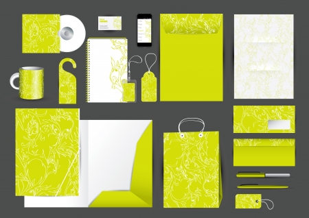 Great stationery design set in editable vector format Vector