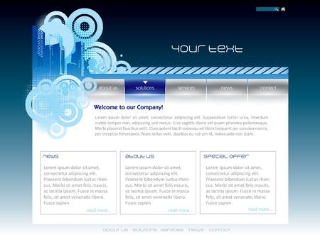 Simple website template in editable format Stock Vector - 16748068
