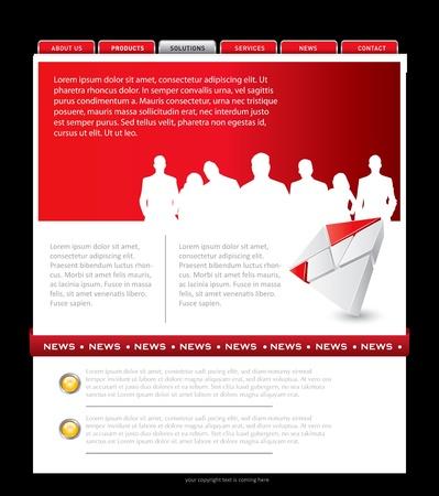 Simple website template in editable format Stock Vector - 16754691