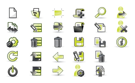 Icons set for apps in editable format Stock Vector - 16748055