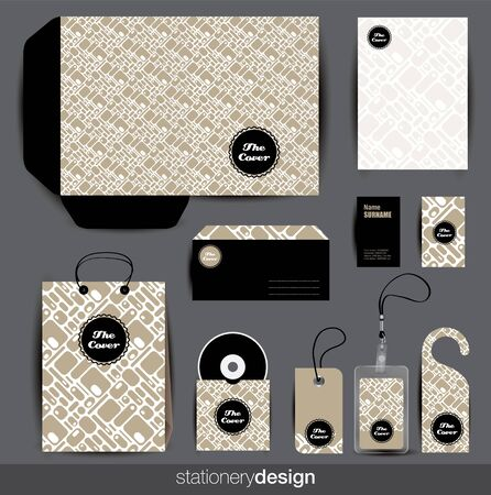 Stationery design set in editable  format Stock Vector - 16824113