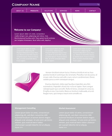 Simple website template in editable format Stock Vector - 16824101