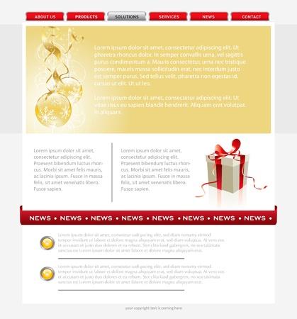 Simple website template Stock Vector - 16851626
