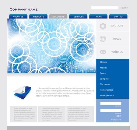 Simple website template Vector