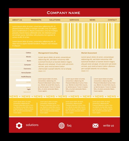 international news: Simple website template