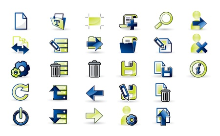 Icons set for apps Vector