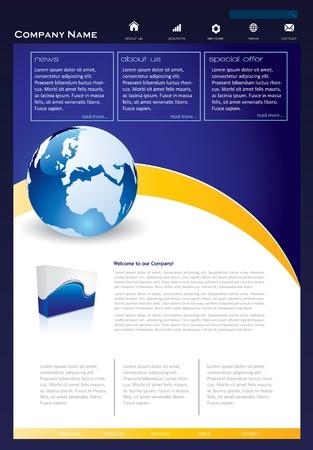 Simple website template Stock Vector - 16851619