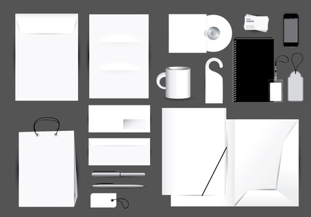 Blank stationery design set in editable    photo