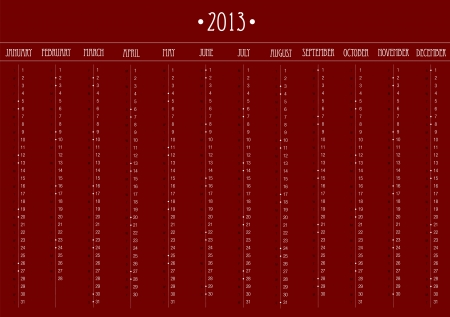 2013 Business Calendar in editable   photo