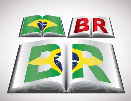 brasil: National Flag concept of Brasil  Editable format