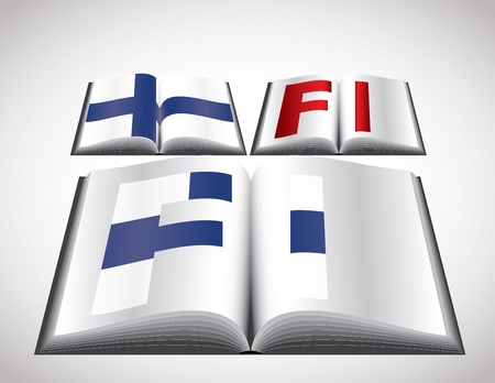 National Flag concept of Finland  Editable format