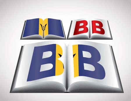 National Flag concept of Barbados. Editable format.