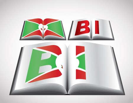 burundi: National Flag concept of Burundi. Editable format. Illustration