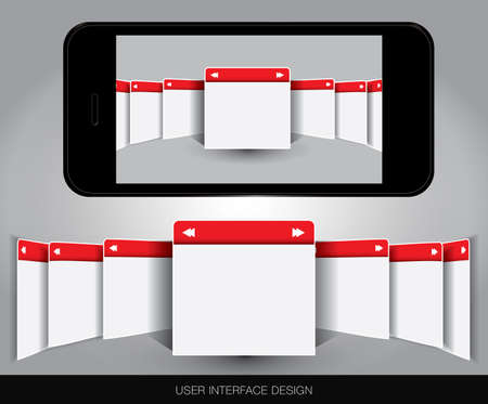 User interface concept in editable  format. Stock Vector - 17958782
