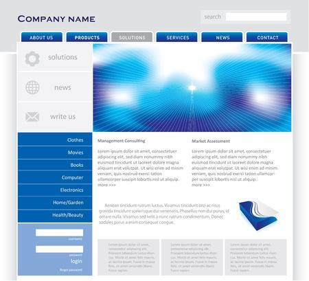 international news: Simple website template in editable format