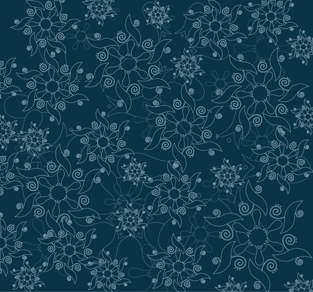 Abstract floral pattern in editable vector format Vector