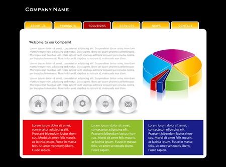 international news: Simple website template in editable vector format Illustration