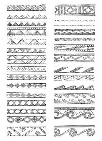 Set of Greek decorations in editable vector format Vector