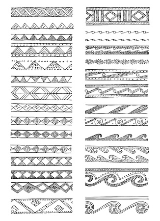 neoclassical: Set of Greek decorations in editable vector format