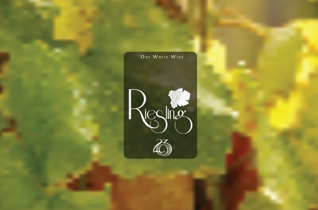 white riesling grape: Vine style badge on mesh background Illustration