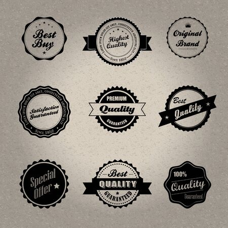 Vintage style badges Stock Vector - 20678969