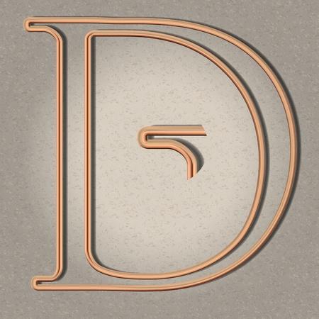 copper pipe: Copper pipe letter illustrations