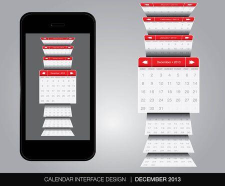 december calendar: Dicembre concetto di interfaccia Calendar