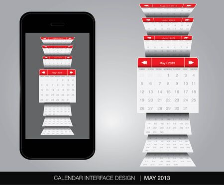 May Calendar interface concept Stock Vector - 20678899