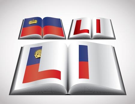 liechtenstein: National Flag concept of Liechtenstein