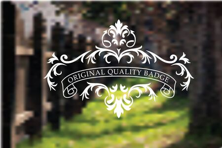 Vintage style badge on mesh background Stock Vector - 20678833