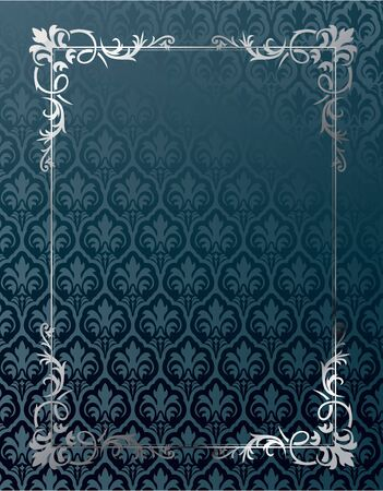 Royal vintage cover in editable vector format Illustration