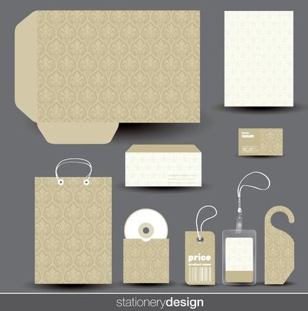membrete: Dise?o de papeler?a situado en formato vectorial editable