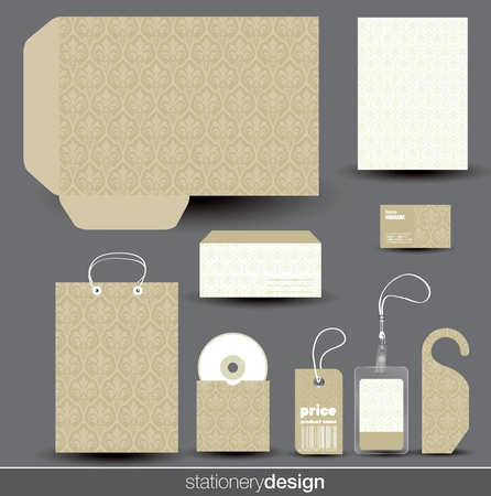 Stationery design set in editable vector format Illustration