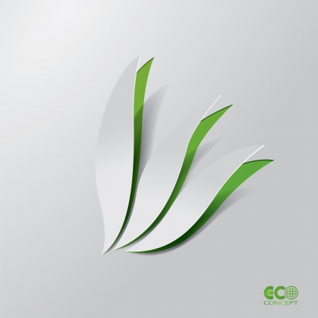 Green Eco concept - Abstract leaf. Editable Vector format. Vector