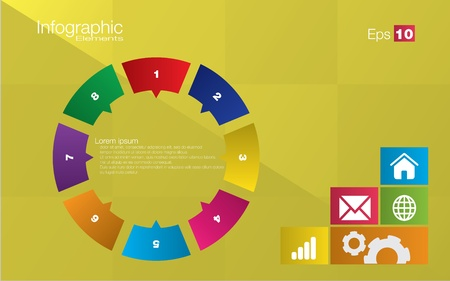 Metro style infographic concept in editable vector format Vector