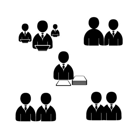 Office people icons set. Editable vector format. Vector