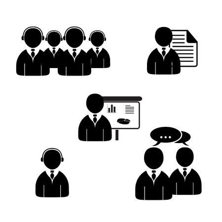 Oficina de personas iconos conjunto. Editables formato vectorial.