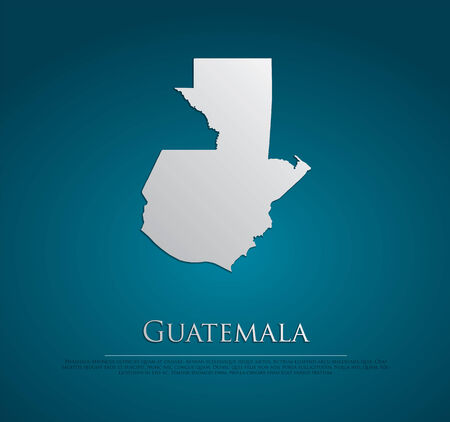 guatemala: vector Guatemala Map card paper on blue background, high detailed