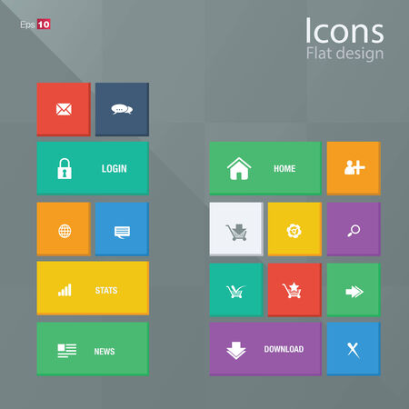 Icon concepts in metro style.  photo